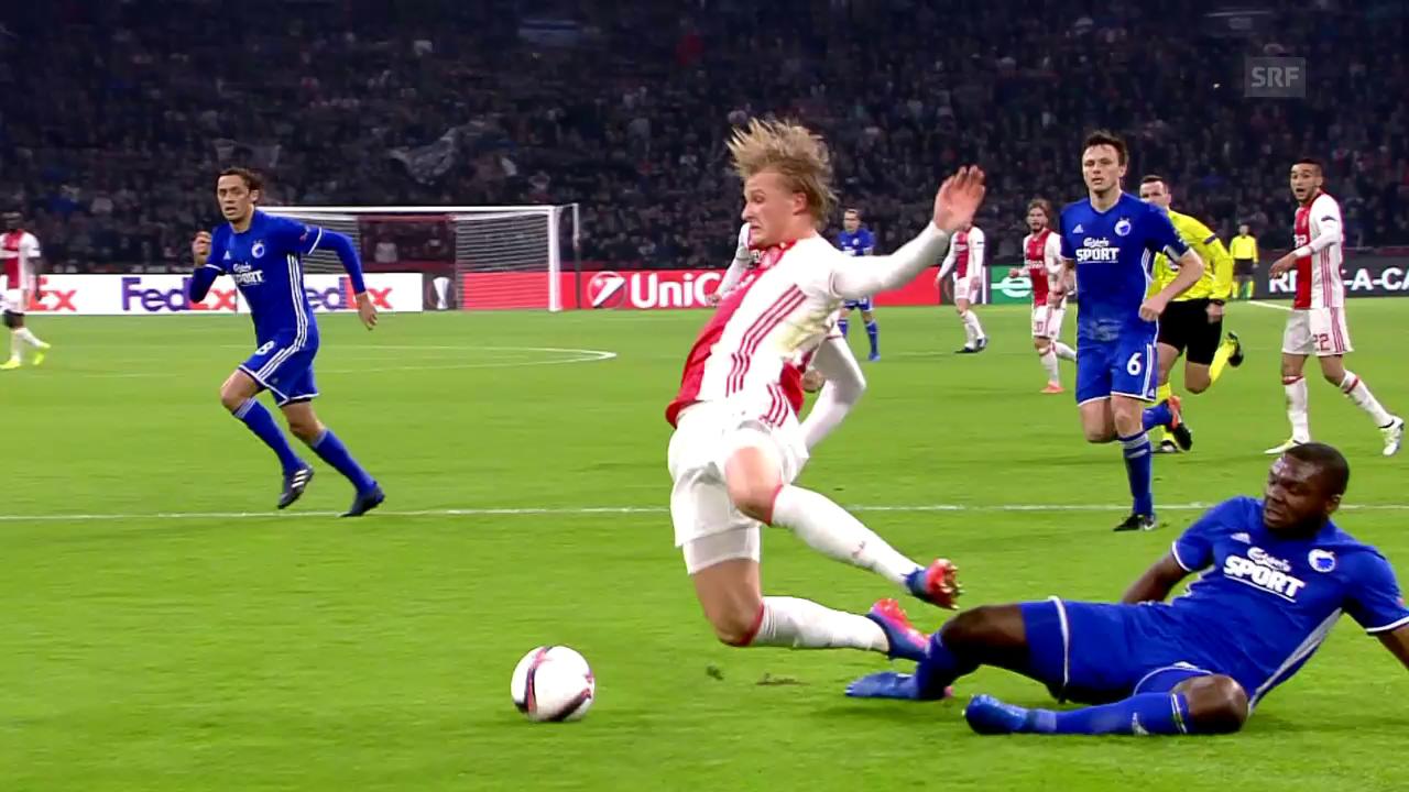 Ajax setzt sich gegen Kopenhagen durch