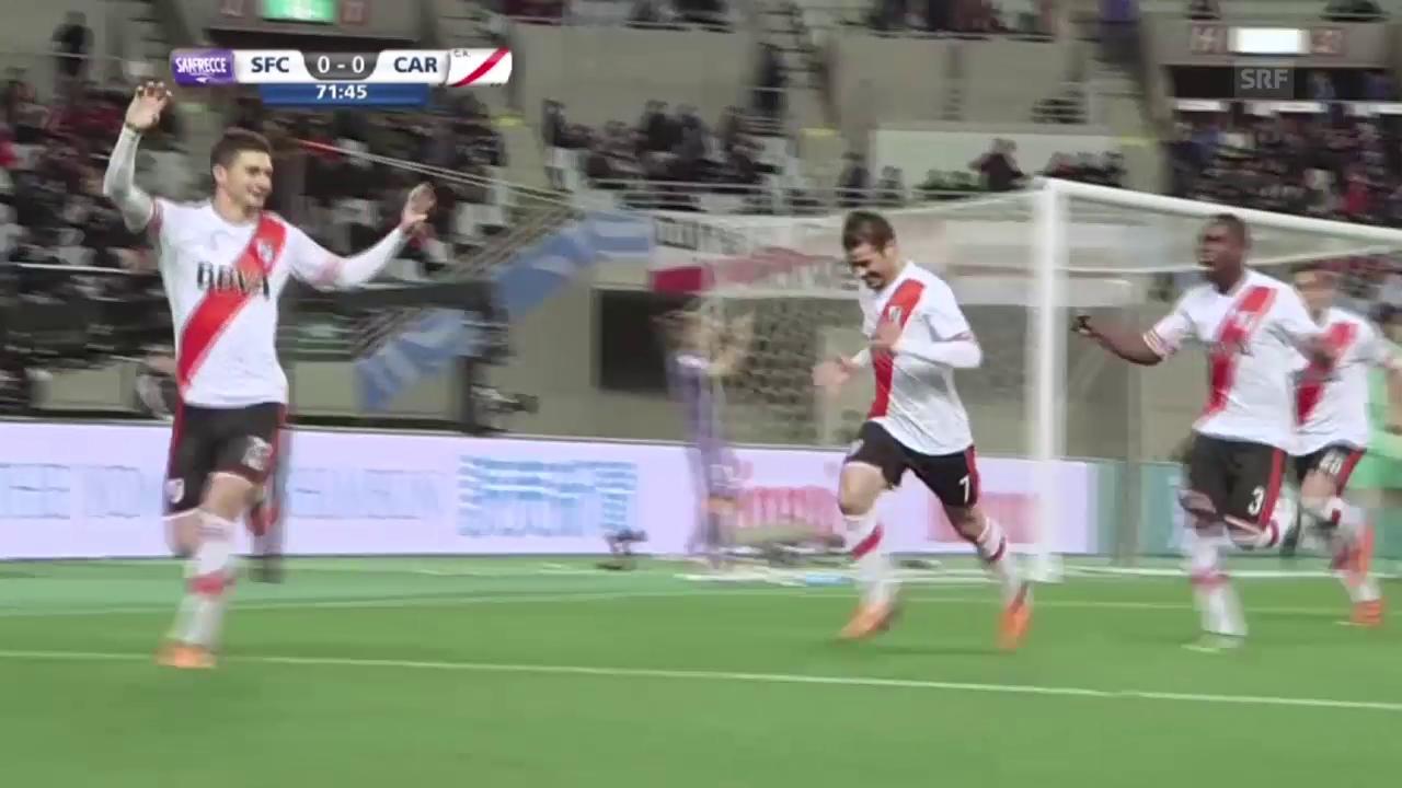 Fussball: Klub-WM, Halbfinal, Highlights River Plate - Sanfrecce Hiroshima (Quelle: SNTV)