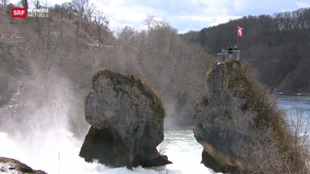 Video «Postkartensujet Rheinfall: Bald mehr Stromproduktion» abspielen
