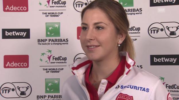 Video «Interview mit Belinda Bencic vor dem Fed-Cup-Duell gegen Deutschland» abspielen