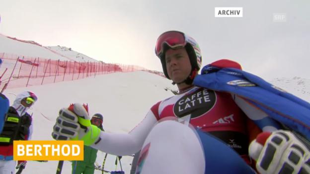 Video «Ski: Marc Berthod mit Kreuzbandriss» abspielen