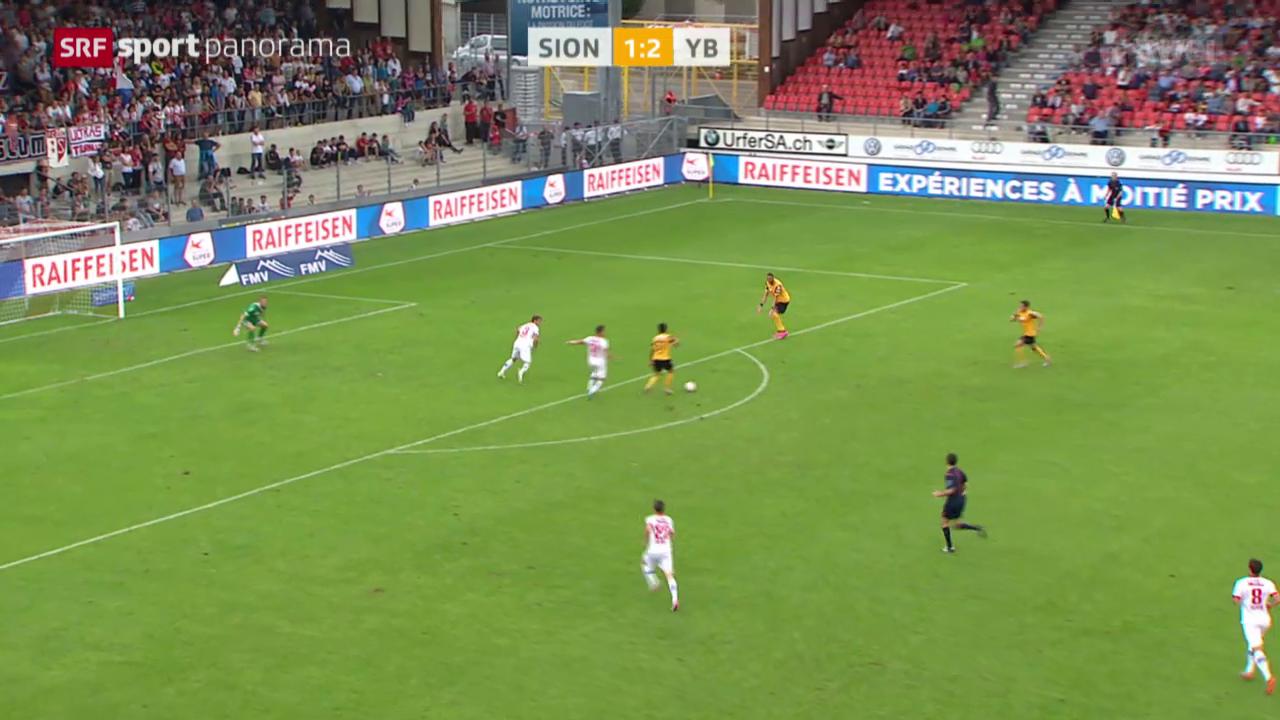 Fussball: Super League, Sion - YB