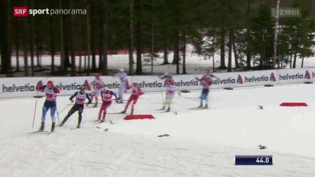 Video «Langlauf: Weltcup, Team-Sprint freie Technik in Otepää» abspielen