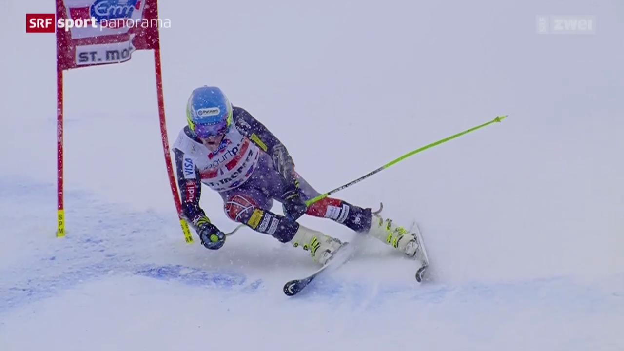 Ski: Riesenslalom Männer in St. Moritz