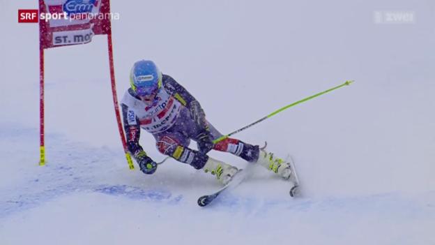 Video «Ski: Riesenslalom Männer in St. Moritz» abspielen