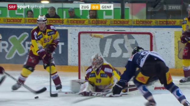 Video «Zug gewinnt Spitzenkampf gegen Genf und steht in den Playoffs» abspielen