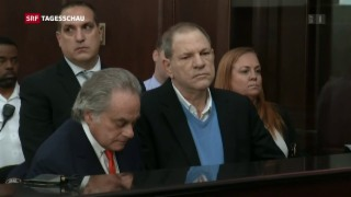 Video «Harvey Weinstein wird angeklagt» abspielen