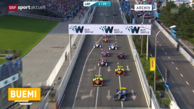 Video «Motorsport: Buemis Aufholjagd in der Formel E» abspielen