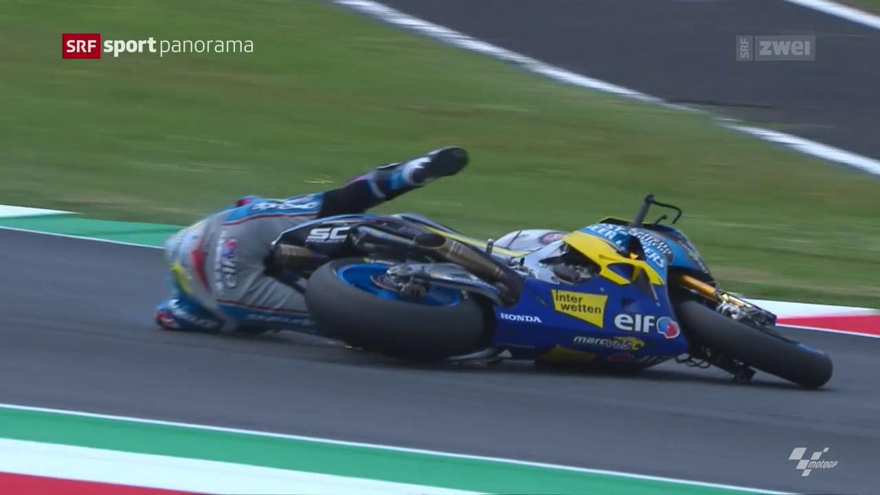 Lüthi stürzt in der MotoGP