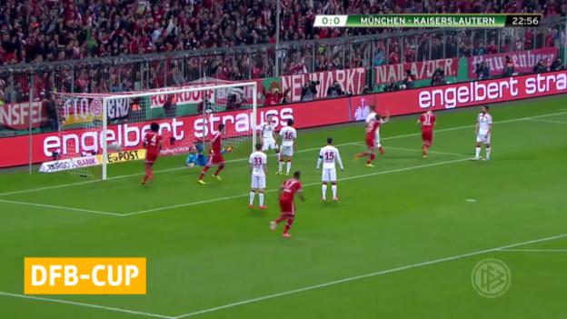 Video «Fussball: DFB-Pokal, Halbfinal Bayern - Kaiserslautern» abspielen