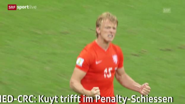 Video «Fussball: WM 2014, Szenen von Dirk Kuyt (NED)» abspielen