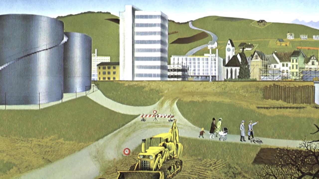 Die Bildmappe von Jörg Müller zeigt, wie Städte entstehen.