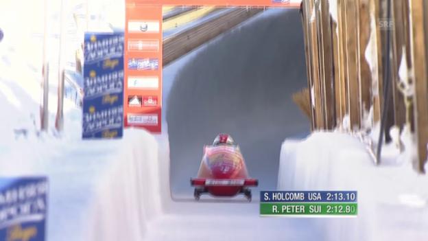 Video «Bob: Weltcup in St. Moritz, Zweier, 2. Lauf Rico Peter» abspielen