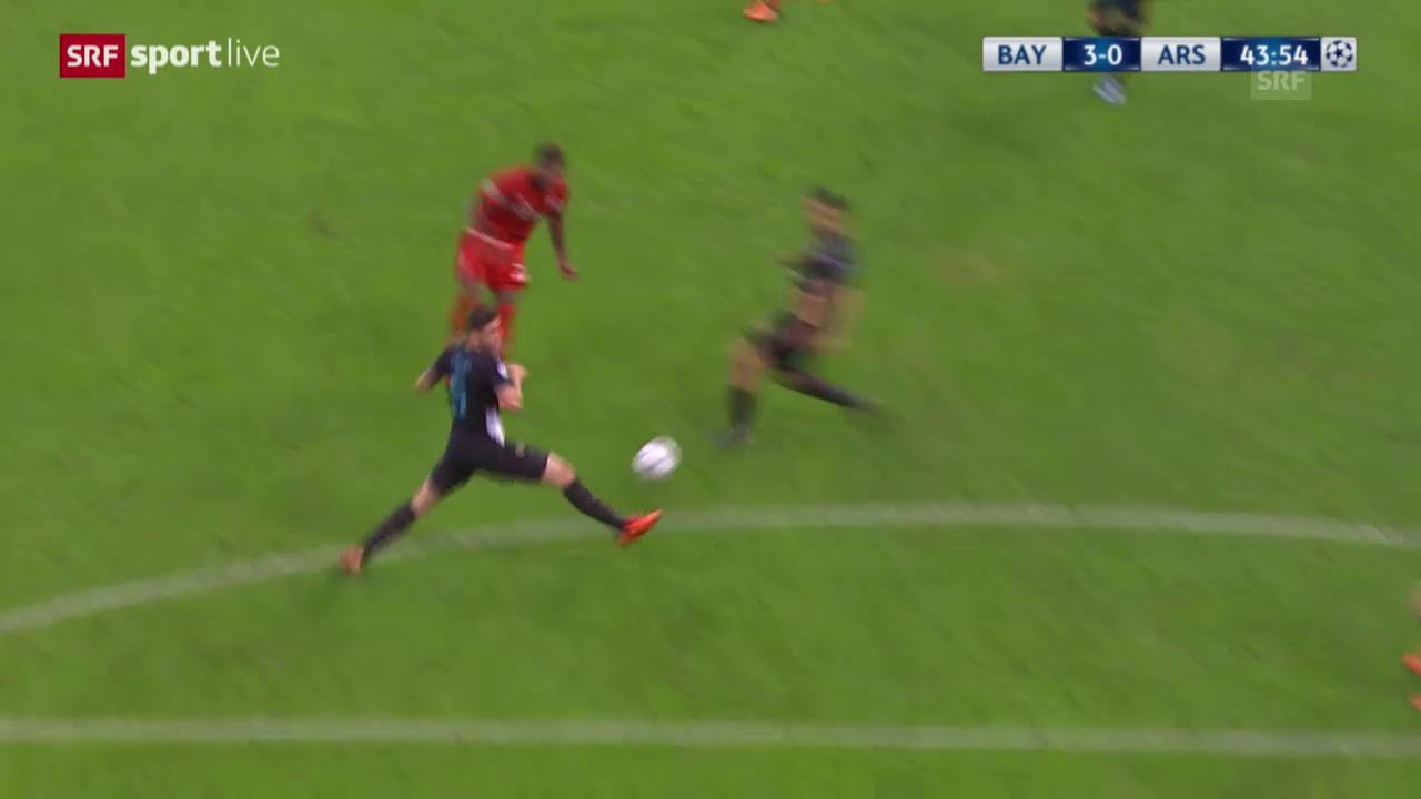Fussball: Champions League, Bayern - Arsenal, 3:0 durch Alaba