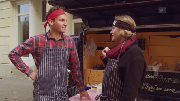 Video «Virus Voyage: Der Hollywood-Koch und die Slow-Food-Gastronomin» abspielen