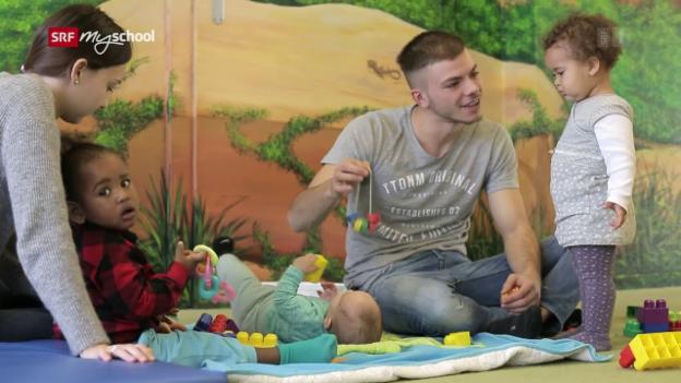 Video «Berufsbild: Fachmann Betreuung Kinder EFZ» abspielen
