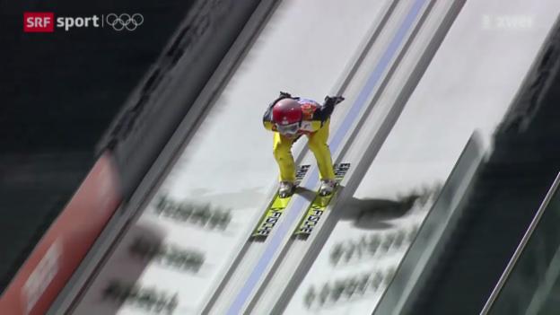 Video «Skispringen: Qualifikation auf der Grossschanze» abspielen