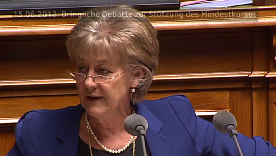 Lob und Kritik an der Euro-Wechselkurs-Politik 2011 bis 2015