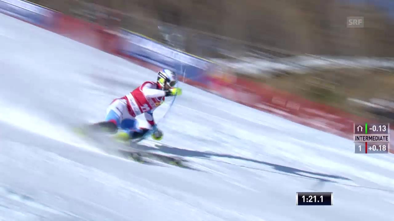 Ski alpin: Slalom Männer Val d'Isère, 2. Lauf Markus Vogel («sportlive», 15.12.2013)