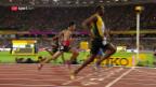 Video «Der 100-m-Vorlauf von Usain Bolt» abspielen