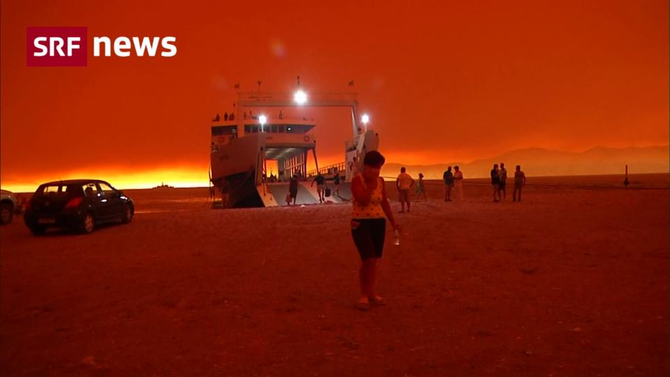 LÖSCHEN Brand auf Euböa bedroht die Bevölkerung