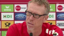 Video «Köln-Trainer Peter Stöger über RB Leipzig (Quelle: sntv)» abspielen