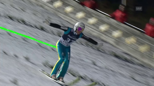 Video «Simon Ammanns Sprünge in Willingen» abspielen
