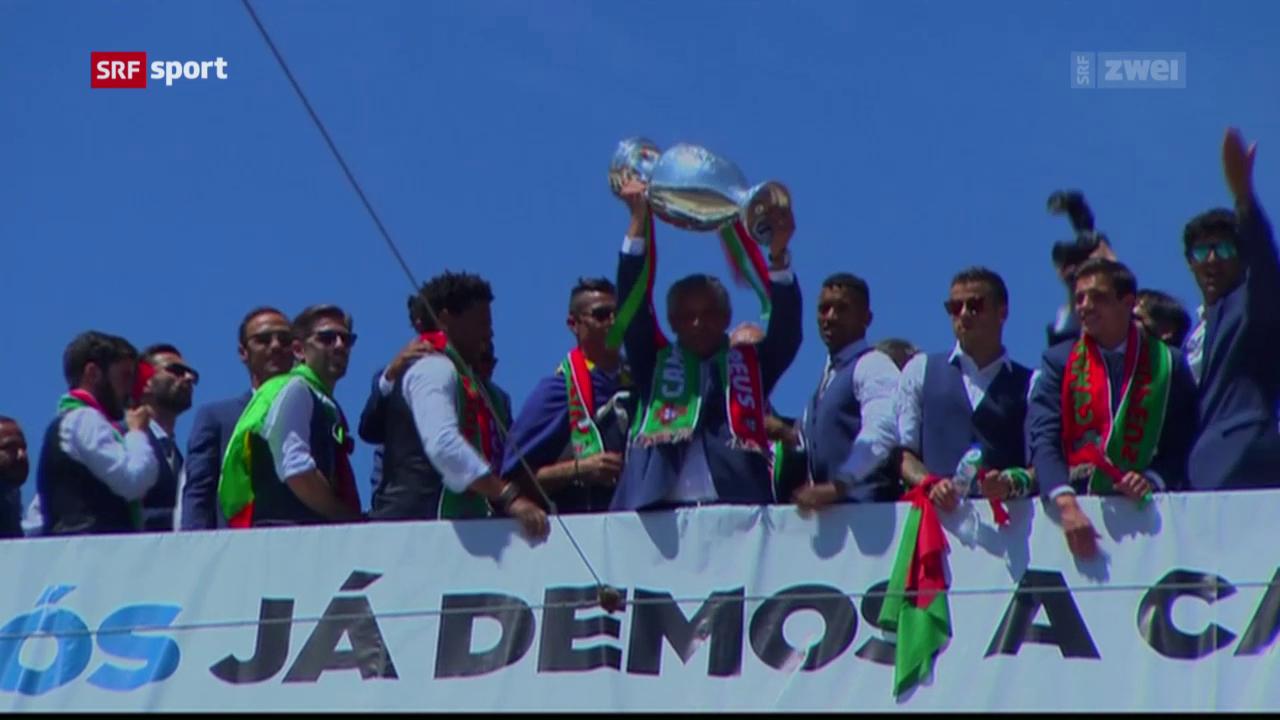 So feiert Portugal seinen Titel