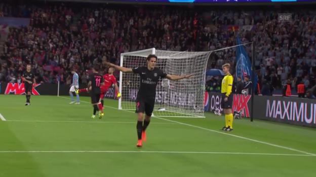 Video «Fussball: CL, Tor Edinson Cavani PSG - Malmö» abspielen