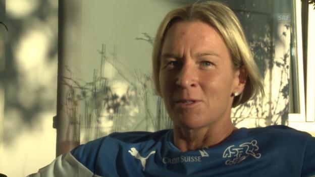 Video «Fussball: Interview mit Frauen-Trainerin Martina Voss-Tecklenburg» abspielen