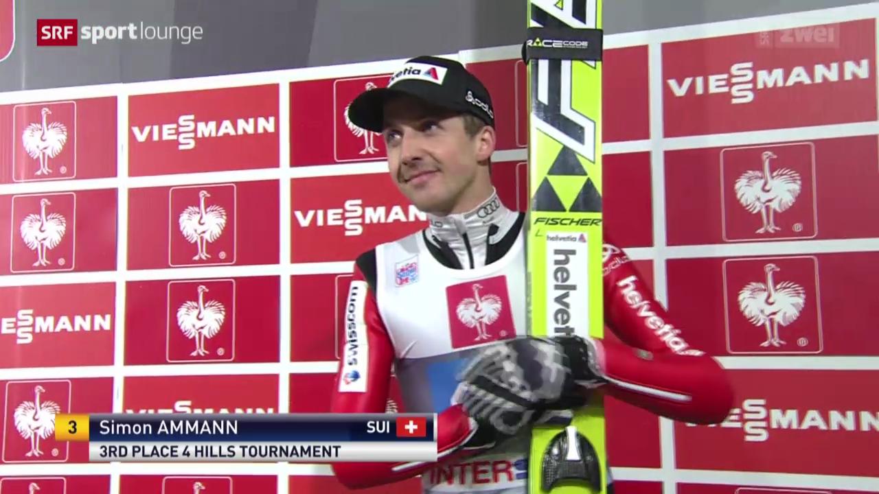 Skispringen: Vierschanzentournee, Ammann verpasst Sieg