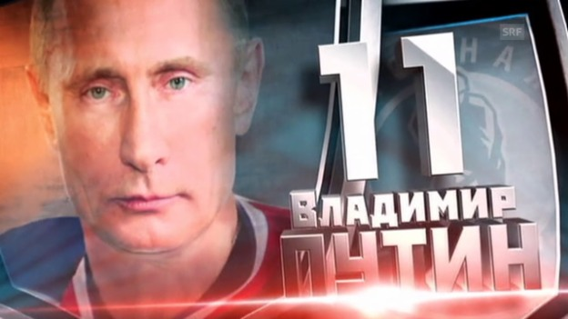 Video «Eishockey: Exhibition Game mit Wladimir Putin» abspielen