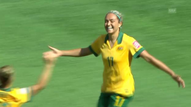 Video «Fussball: Frauen-WM, Zusammenfassung Australien-Nigeria (12.06.2015)» abspielen