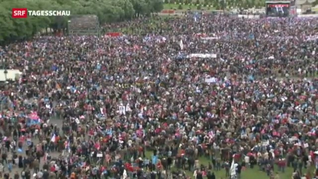 Demonstration gegen Homosexuellen-Ehe in Paris