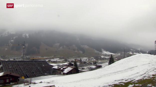 Video «Ski alpin: Die aktuelle Schneesituation in Adelboden und Wengen» abspielen