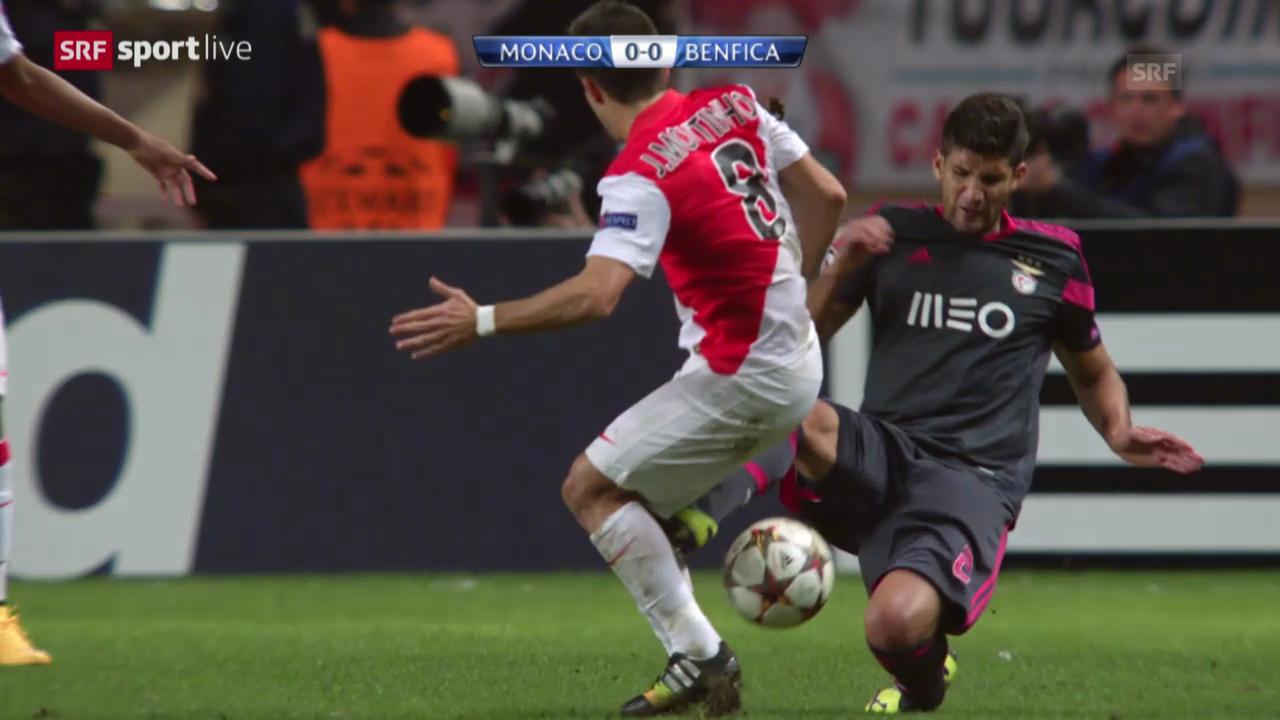 Fussball: CL, Monaco - Benfica