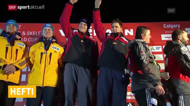 Video «Bob: Kurzbericht Weltcup in Calgary» abspielen