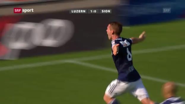 Video «Zusammenfassung Luzern - Sion («sportpanorama»)» abspielen