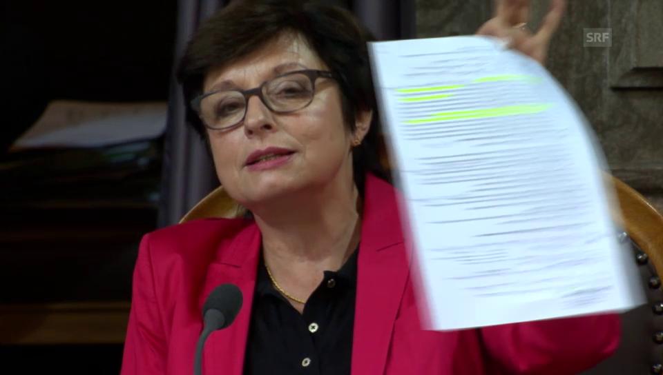 Anita Fetz (SP/BS) kritisiert «frivolen» Bauernverband
