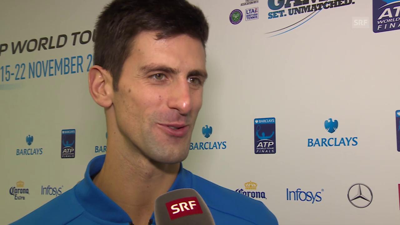 Tennis: Interview mit Novak Djokovic
