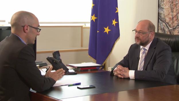 Video «Martin Schulz im «Tagesgespräch» mit Oliver Washington» abspielen