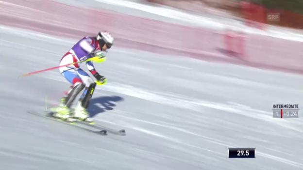 Video «SKI: Weltcup, Slalom Frauen in Courchevel» abspielen