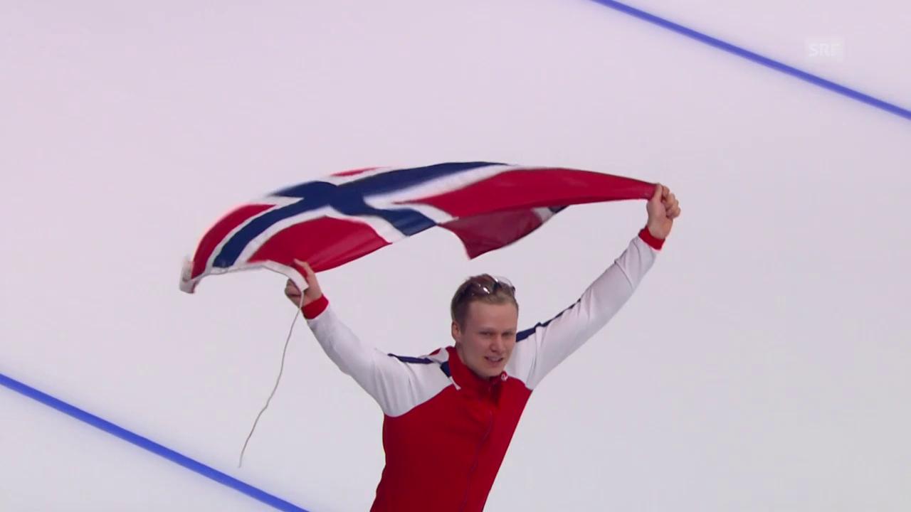 Havard Lorentzen holt sich Olympia-Gold im Eisschnelllauf