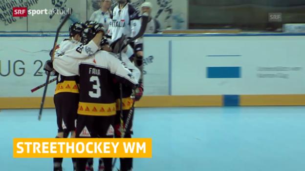 Video «Streethockey: WM in Zug, Schweiz steht im Viertelfinal» abspielen