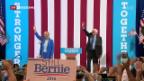Video «Demonstrative Harmonie zwischen Clinton und Sanders» abspielen