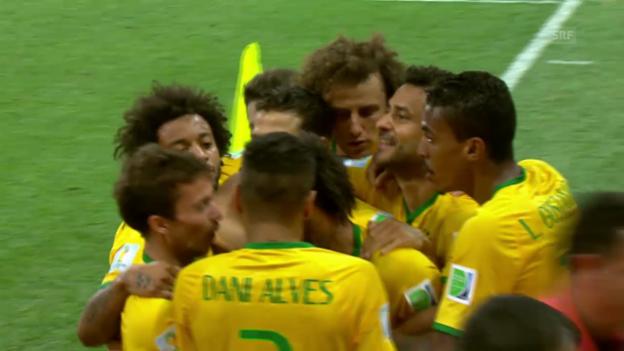 Video «Fussball: Zusammenfassung Brasilien - Kroatien» abspielen