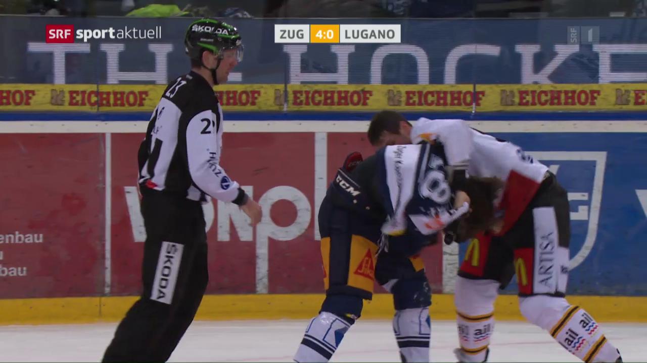 Zug gewinnt strafenreiche Partie gegen Lugano