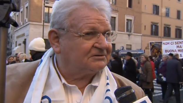 Video «Deutsche Gläubige reisen nach Rom» abspielen