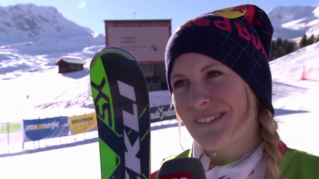 Video «Skicross: Weltcup Arosa, Interview mit Fanny Smith (7.3.2014)» abspielen