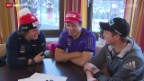 Video «Ski: Drei Schweizer feiern in Kitzbühel ihre Streif-Premiere» abspielen